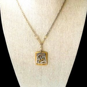 Brighton necklace silver & gold plated with chain